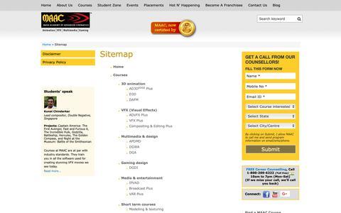 Screenshot of Site Map Page maacindia.com - Sitemap | maacindia.com - captured Sept. 30, 2018