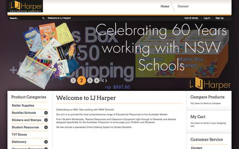 Screenshot of About Page ljharper.com.au - Educational Supplies and Resources - captured Oct. 1, 2014