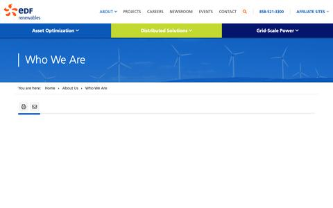 Screenshot of About Page edf-re.com - Who We Are   EDF Renewables - captured June 13, 2019