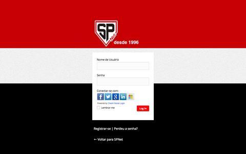 Screenshot of Login Page saopaulofc.com.br - SPNet › Log in - captured Sept. 24, 2014