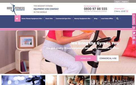 Screenshot of Home Page hirefitness.co.uk - Hire Fitness Equipment | Gym Equipment Hire - captured May 19, 2017