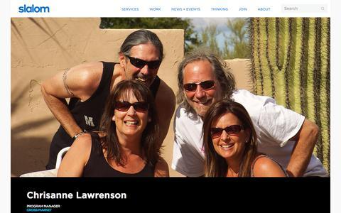 Screenshot of Team Page slalom.com - Chrisanne Lawrenson | Slalom - captured Jan. 20, 2018
