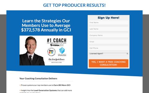 Screenshot of Landing Page tomferry.com - Get Your Free Coaching Consultation - captured Aug. 18, 2016