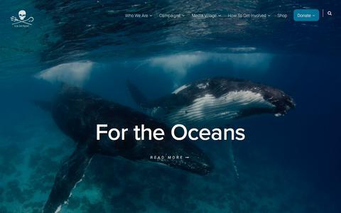 Screenshot of Home Page seashepherd.org - Sea Shepherd - captured Jan. 26, 2020