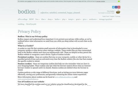 Screenshot of Privacy Page bodlon.com - Bodlon Privacy Policy | Bodlon - captured Sept. 30, 2014