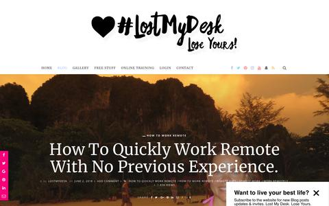Screenshot of Blog lostmydesk.com - How to Quickly Work Remote - captured July 9, 2018