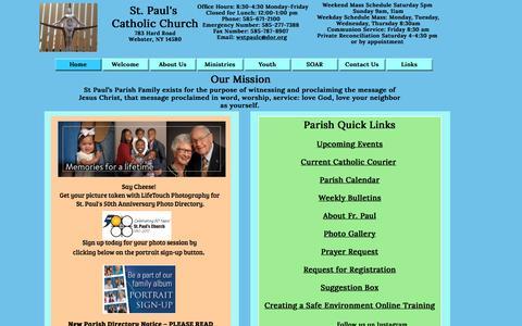 Screenshot of Home Page stpaulsrcc.org - StPaulsRCCHome - captured April 24, 2017