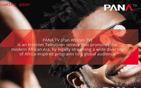 Screenshot of Home Page panatv.com - PANATV.COM - captured Jan. 20, 2016