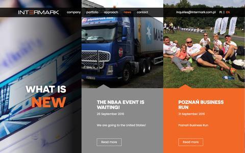 Screenshot of Press Page intermark.com.pl - INTERMARK | News             :                Intermark - captured Nov. 18, 2016