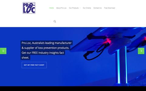 Screenshot of Home Page proloc.com.au - Pro.Loc - captured Oct. 3, 2014
