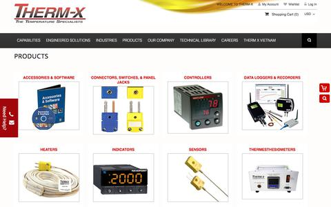 Screenshot of Products Page therm-x.com - THERM-X - captured June 17, 2017