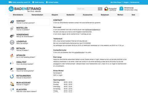Screenshot of Privacy Page Contact Page badenstrand.nl - Veelgestelde Vragen | Badenstrand.nl - captured March 4, 2016