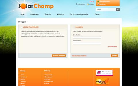 Screenshot of Login Page solarchamp.eu - Klant-login - captured Oct. 7, 2014