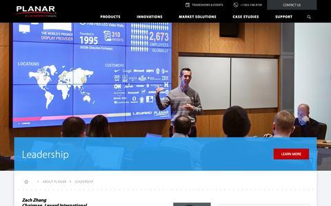 Screenshot of Team Page planar.com - Leadership | Planar - captured Nov. 20, 2018