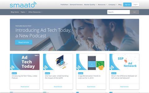 Screenshot of Blog smaato.com - Blog - Smaato - captured May 26, 2019