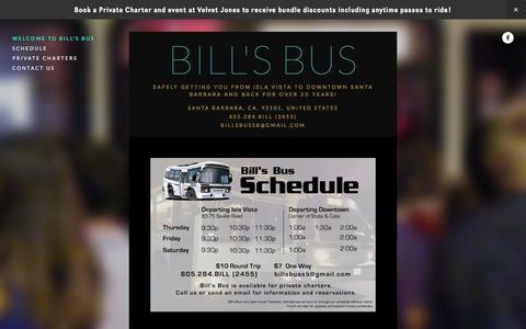 Screenshot of Home Page bills-bus.com - Bill's Bus - captured Oct. 10, 2015