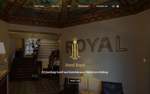 Screenshot of Home Page hotel-royal.se - Hotel Royal - captured March 4, 2016