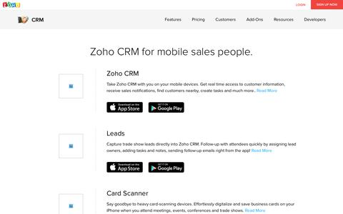 Mobile CRM App for iPhone, iPad and Android Smartphones - Zoho CRM