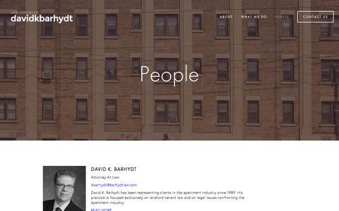 Screenshot of Team Page barhydtlaw.com - People — Barhydt law - captured Jan. 26, 2016