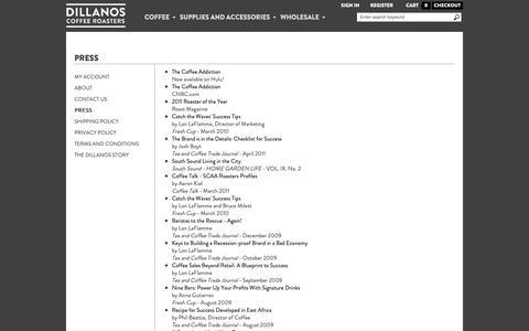 Screenshot of Press Page dillanos.com - Press - captured Nov. 20, 2018