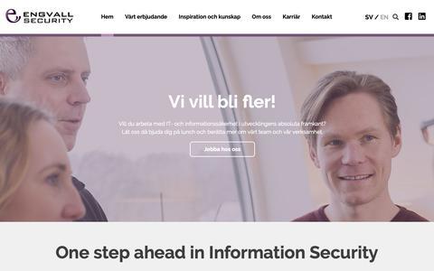 Screenshot of Home Page engsec.se - Engvall Security - En unik uppsättning expertis - captured Sept. 28, 2018