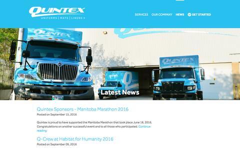Screenshot of Press Page quintexservices.com - News - Quintex Services - captured Nov. 16, 2016