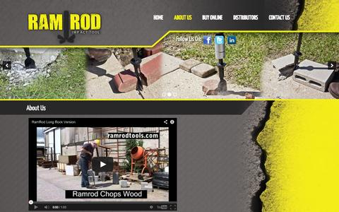 Screenshot of About Page ramrodtools.com - ramrod hammer action tool - captured Oct. 1, 2014