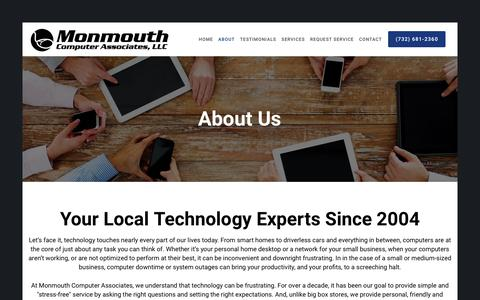 Screenshot of About Page monmouthcomputer.com - About Monmouth Computer Associates | monmouthcomputer.com - captured Sept. 20, 2018