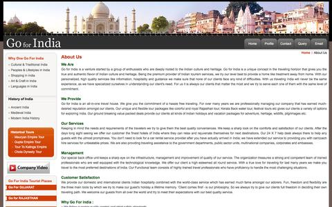 Screenshot of About Page Contact Page goforindia.com - India Tour Operator, Tour Operator in India, India Travel Agency - captured May 20, 2017