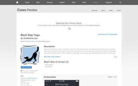 Screenshot of iOS App Page apple.com - Black Dog Yoga on the App Store on iTunes - captured Oct. 25, 2014