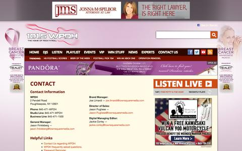Screenshot of Contact Page wpdh.com - 101.5 WPDH Radio – The Home of Rock and Roll – Poughkeepsie Classic Rock Radio - captured Oct. 31, 2014
