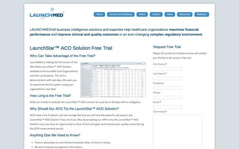 Screenshot of Trial Page launch-med.com - Free Trial - LaunchMed - captured Oct. 29, 2016
