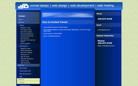Screenshot of Contact Page yomad.com - Yomad Contact Information - captured Oct. 7, 2014
