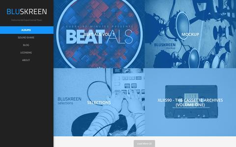 Screenshot of Home Page bluskreen.com - Instrumental Experimental Music - BLUSKREEN - captured Sept. 30, 2014