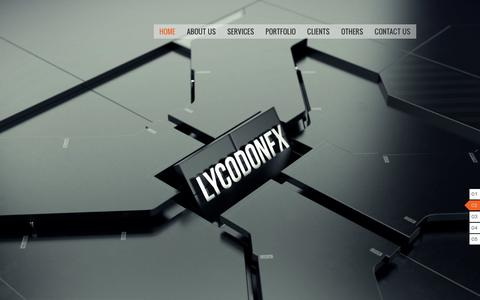 Screenshot of Home Page lycodonfx.com - LycodonFX- A Leading Creative Studio with a team of crazy design junkies! - captured Jan. 27, 2015