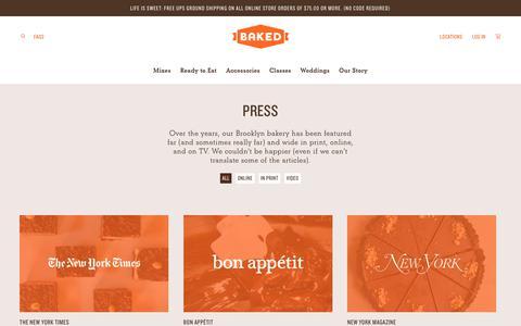 Screenshot of Press Page bakednyc.com - Press | Baked - captured Aug. 1, 2018