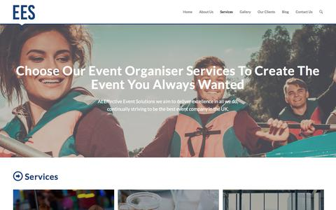 Screenshot of Services Page effectiveeventsolutions.com - Looking For An Experienced Event Organiser In The UK? - captured July 18, 2017