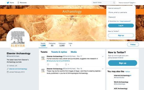 Elsevier Archaeology (@ElsevierArchaeo) | Twitter