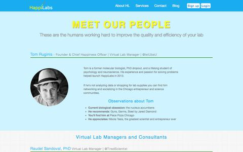 Screenshot of Team Page happilabs.org - HappiLabs - captured Oct. 2, 2014