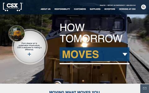 Screenshot of Home Page csx.com - Home - CSX.com - captured Jan. 12, 2016