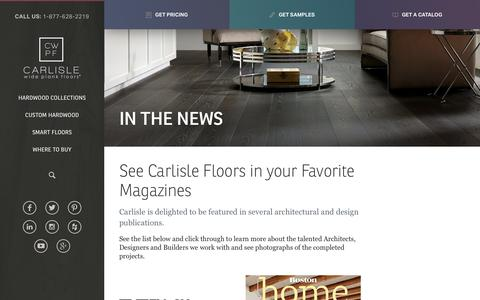 Screenshot of Press Page wideplankflooring.com - Magazines & Projects Featuring Carlisle Wide Plank Floors - captured Oct. 15, 2016