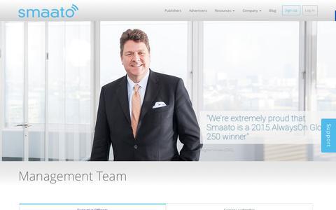 Screenshot of Team Page smaato.com - Smaato Management Team - captured Dec. 4, 2015