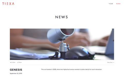 Screenshot of Press Page tiexa.com - News Ń TIEXA - captured Jan. 12, 2016