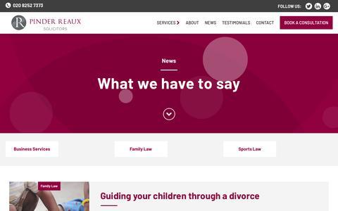 Screenshot of Press Page pinderreaux.com - Pinder Reaux Associates Limited - News - captured Dec. 18, 2018