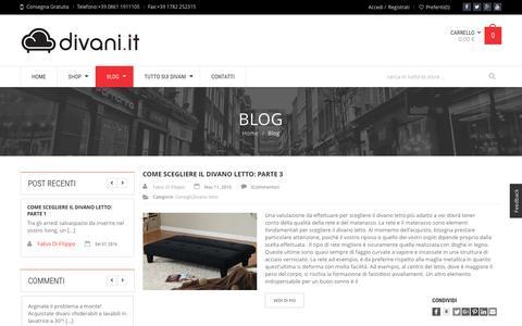 Screenshot of Blog divani.it - Divani da conoscere, scegliere, acquistare | Divani.it - captured Nov. 23, 2016