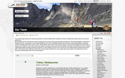 Screenshot of Team Page rubyrange.com - Our Team | Ruby Range Adventure - captured Oct. 6, 2014