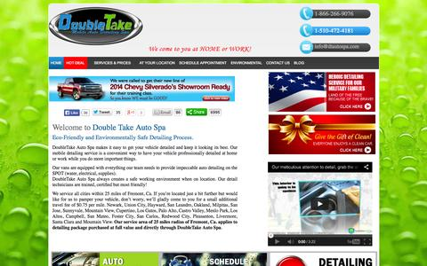 Screenshot of Home Page dtautospa.com - Hand Car Wash in Fremont CA, Car Detailing Services, Car Wash – DTAutoSpa.com - captured Oct. 5, 2014