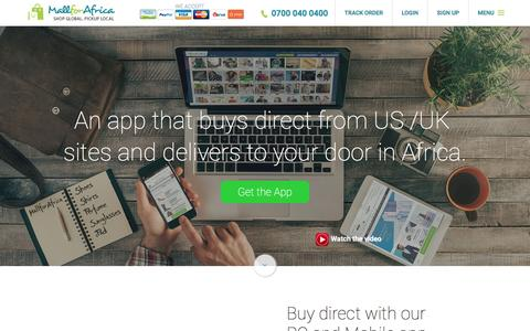 Screenshot of Home Page mallforafrica.com - E-Commerce in Africa | MallforAfrica | Online Shopping App - captured July 22, 2016
