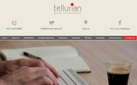 Screenshot of Contact Page tellurian-uae.com - Tellurian | Contact Us - captured Oct. 21, 2017