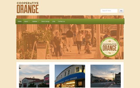 Screenshot of Home Page cooperativeorange.com - Cooperative Orange | Culture. Community. Connect. - captured Jan. 27, 2015